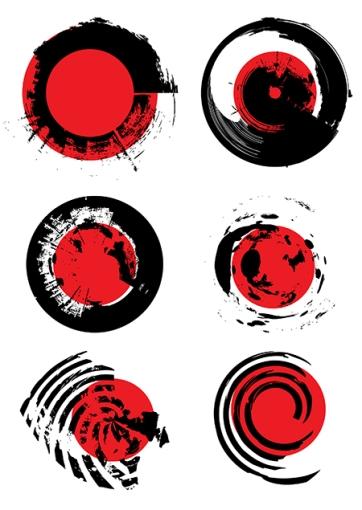 vector grunge brush set