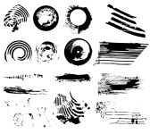 vector grunge brush set