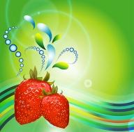 vector strawberry