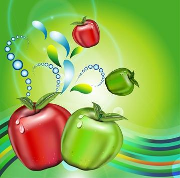 vector apples