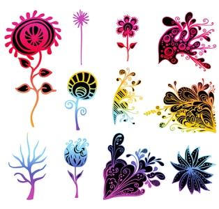 vector flower set