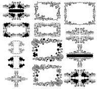 vector floral frame design