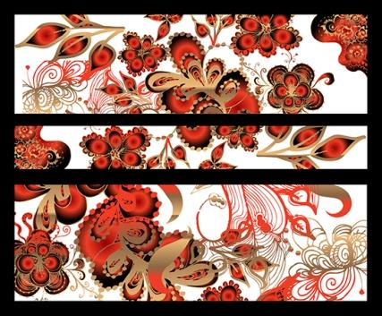 Vector Floral Banner
