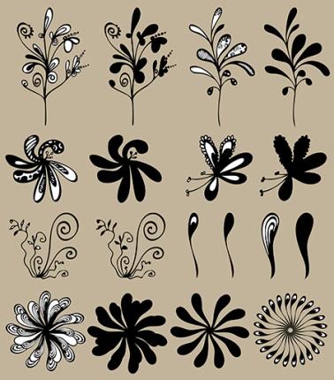 vector floral design elements