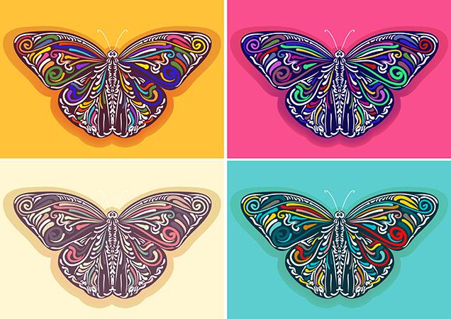 Vector Butterflys Illustration