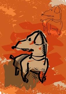 Vector Dog Illustration