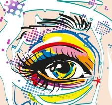 Vector Pop Art Eye