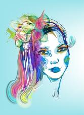 Vector Pop Art Girl