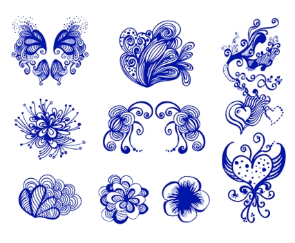 vector doodle design elements