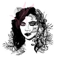 Floral Fashion Model