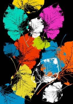 Vector Colorful Leaves