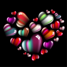 Vector colorful hearts