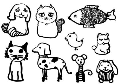 Vector Animal Set