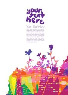 Vector Floral Design Template