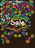 Sale Floral Doodle
