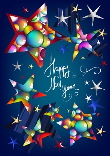 Happy New Year Greeting Card Design