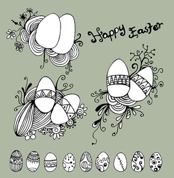 Vector Easter Set