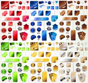 vector gift elements