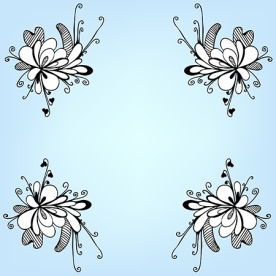 Vector doodle flowers