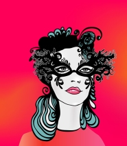 Vector Girl with Mask